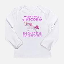 I Wish I Was A Unicorn Long Sleeve T-Shirt