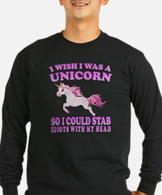I Wish I Was A Unicorn Long Sleeve T-Shirt