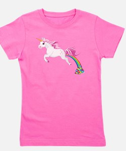 Unicorn Pooping Girl's Tee