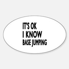 It Is Ok I Know Base Jumping Decal