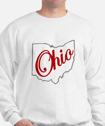 Scarlet and Gray Script OH Sweater