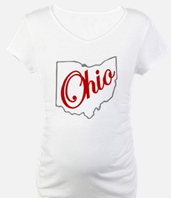 Scarlet and Gray Script OH Shirt