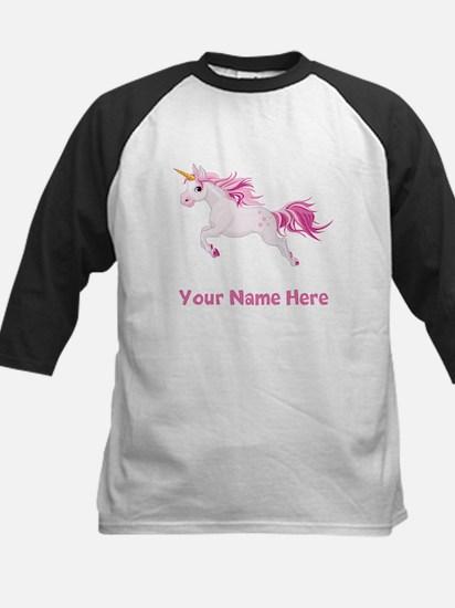 Pink Unicorn Baseball Jersey