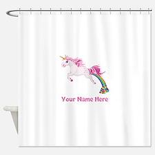 Unicorn Pooping Shower Curtain