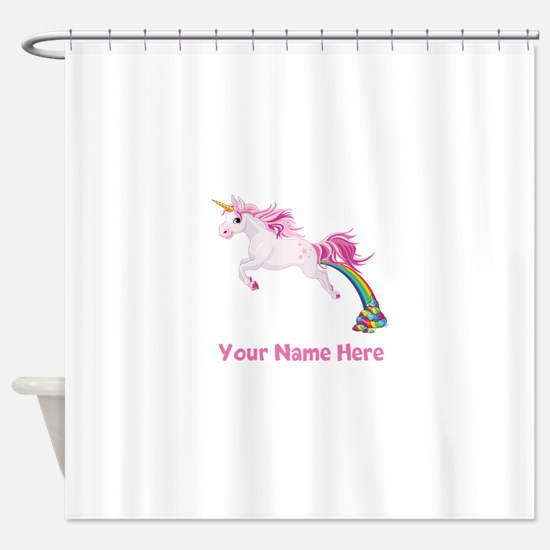 Unicorn Pooping Shower Curtain