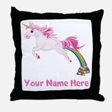 Unicorn Pooping Throw Pillow