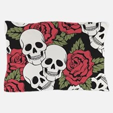 Skulls and Roses Pillow Case