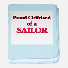 Proud Girlfriend of a Sailor baby blanket