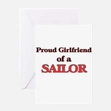 Proud Girlfriend of a Sailor Greeting Cards