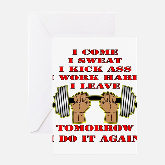 Funny Cross fit Greeting Card