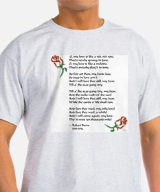 Love is Like a Red Rose T-Shirt