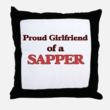 Proud Girlfriend of a Sapper Throw Pillow