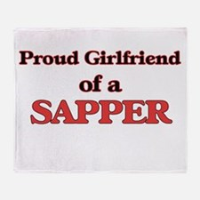 Proud Girlfriend of a Sapper Throw Blanket