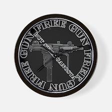 """""""Gun Free, But Still Gangsta"""" Wall Clock"""