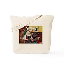 Santa's black Lab (TH) Tote Bag