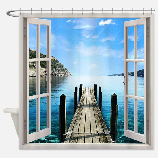 Paradise Window View Shower Curtain
