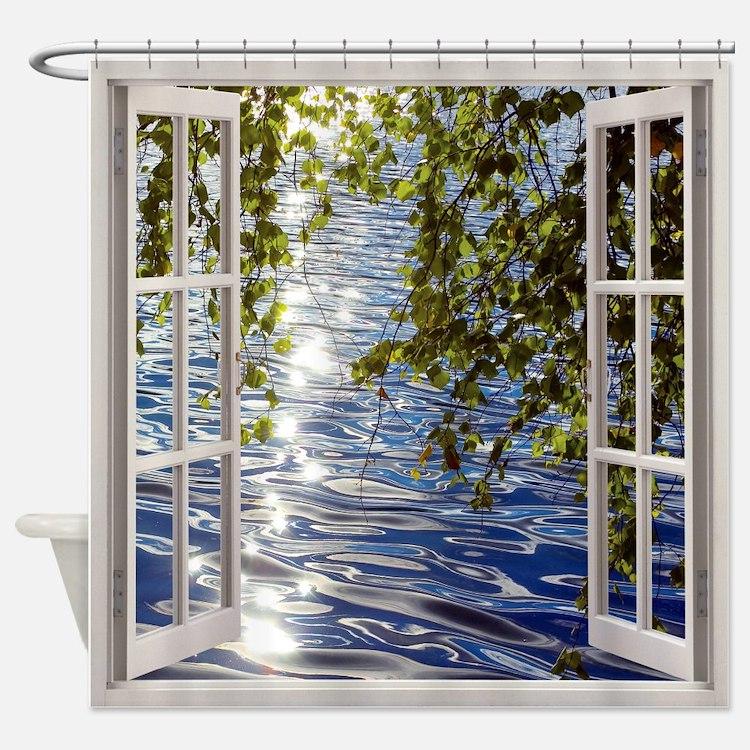 Windows Shower Curtains