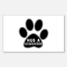 Hug A Flat-Coated Retrie Decal