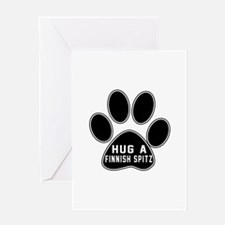 Hug A Finnish Spitz Dog Greeting Card