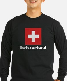 Swiss Flag Long Sleeve T-Shirt