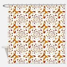 Orange and tan Shower Curtain
