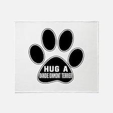 Hug A Dandie Dinmont Terrier Dog Throw Blanket
