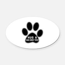 Hug A Dandie Dinmont Terrier Dog Oval Car Magnet