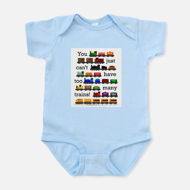 Cute Trains Infant Bodysuit