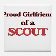 Proud Girlfriend of a Scout Tile Coaster