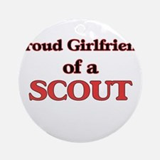 Proud Girlfriend of a Scout Round Ornament