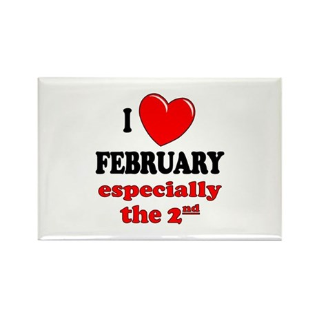 February 2nd Rectangle Magnet