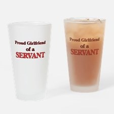 Proud Girlfriend of a Servant Drinking Glass