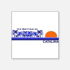 "Cute Catalina island Square Sticker 3"" x 3"""