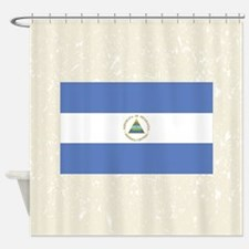 Nicaraguan Flag Shower Curtain