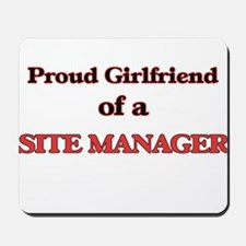 Proud Girlfriend of a Site Manager Mousepad