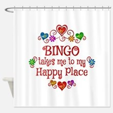 Bingo Happy Place Shower Curtain
