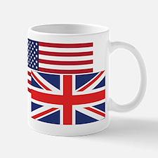 American And British Flag Mugs