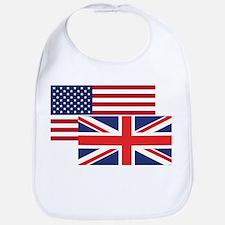 American And British Flag Bib