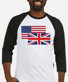 American And British Flag Baseball Jersey