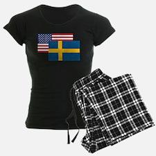 American And Swedish Flag Pajamas
