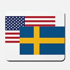 American And Swedish Flag Mousepad