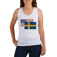 American And Swedish Flag Tank Top
