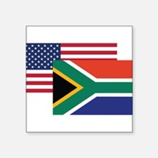 American And South African Flag Sticker