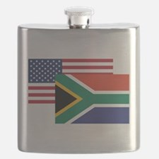 American And South African Flag Flask