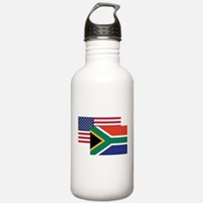American And South African Flag Water Bottle