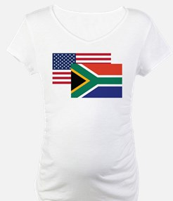 American And South African Flag Shirt