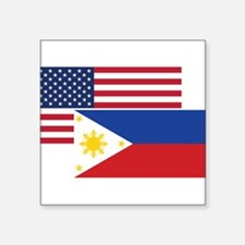 American And Filipino Flag Sticker