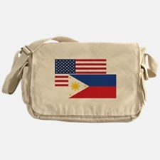 American And Filipino Flag Messenger Bag