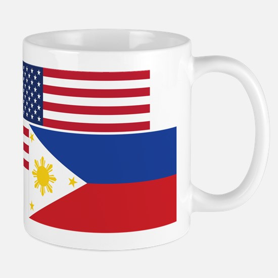 American And Filipino Flag Mugs