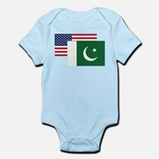 American And Pakistani Flag Body Suit